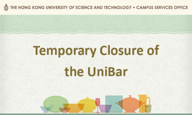 Temporary Closure of the UniBar