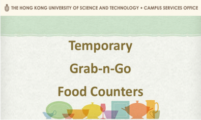 Temporary Grab-n-Go Food Counters