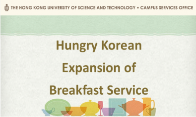 Hungry Korean - Expansion of Breakfast Service