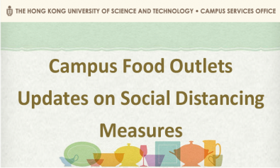 Campus Food Outlets - Updates on Social Distancing Measures